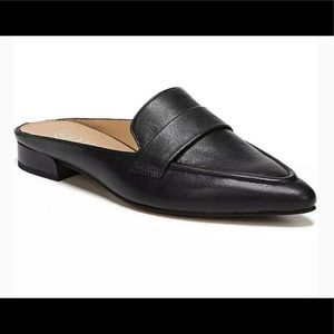 FRANCO SARTO SOPHIA BLACK LEATHER MULES